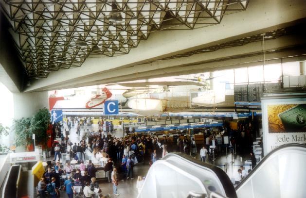 Inside the Frankfurt Airport